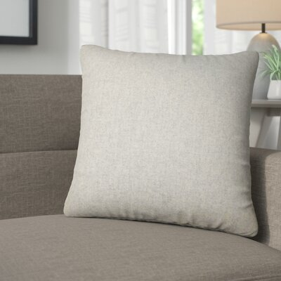 Emmalee Solid Throw Pillow Color: Gray
