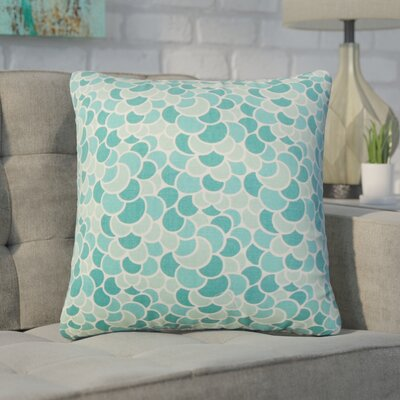 Basinger Geometric Cotton Throw Pillow Color: Aquamarine