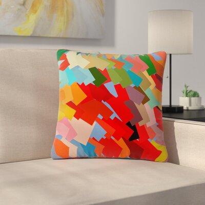Matthias Hennig Playful Rectangles Outdoor Throw Pillow Size: 16 H x 16 W x 5 D