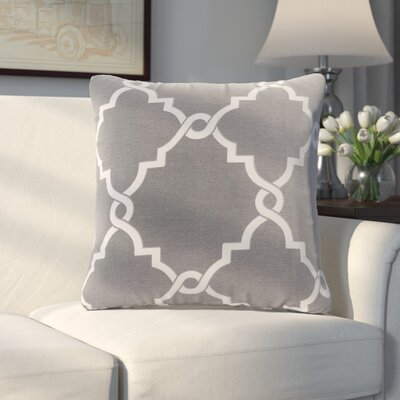 Allard Fretwork Throw Pillow Color: Gray
