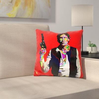 Hans Solo Drome Throw Pillow