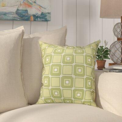 Cedarville Square Geometric Print Throw Pillow Size: 26 H x 26 W, Color: Green