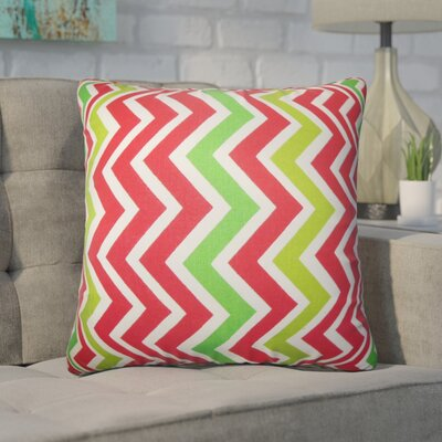 Bouck Zigzag Cotton Throw Pillow Color: Pink