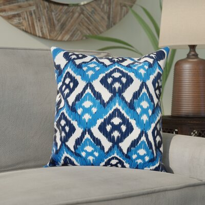 Sabrina Outdoor Throw Pillow Size: 18 H x 18 W, Color: Blue