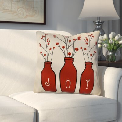 Decorative Holiday Throw Pillow Size: 18 H x 18 W, Color: Red