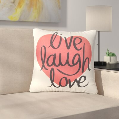 Barrau Live Laugh and Love Heart Throw Pillow