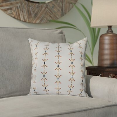 Bridgehampton Stripe Print Throw Pillow Size: 16 H x 16 W, Color: Taupe