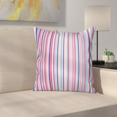 Stripes Lines Cushion Pillow Cover Size: 18 x 18