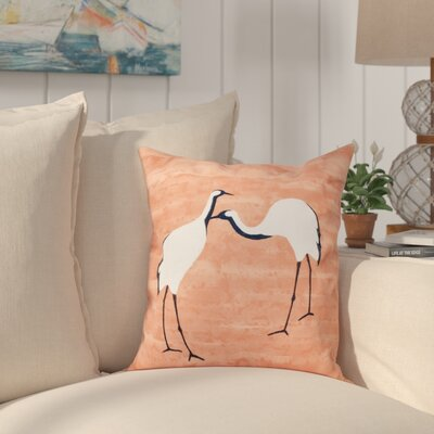 Boubacar Stilts Animal Print Outdoor Throw Pillow Size: 18 H x 18 W, Color: Coral