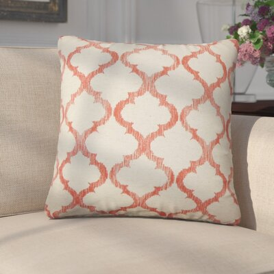 Griselde Geometric Cotton Throw Pillow Color: Mango