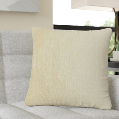 Redfield Solid Linen Throw Pillow Color: Tan