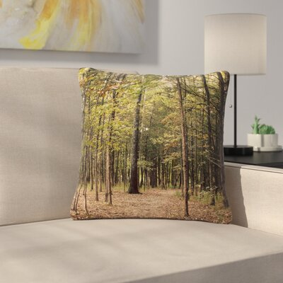 Sylvia Coomes Forest Trees Outdoor Throw Pillow Size: 16