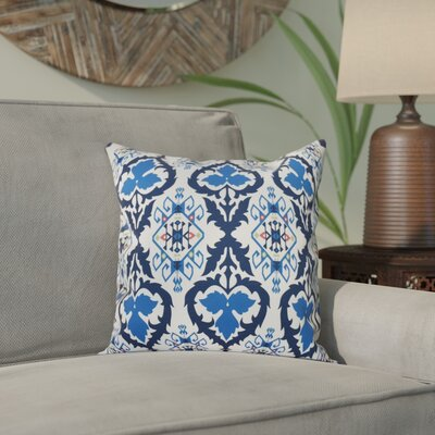 Bridgehampton Geometric Print Throw Pillow Size: 16 H x 16 W, Color: Navy Blue