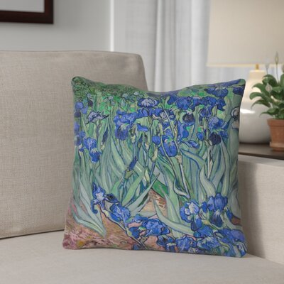 Morley Irises Indoor/Outdoor Throw Pillow Color: Green, Size: 20 x 20