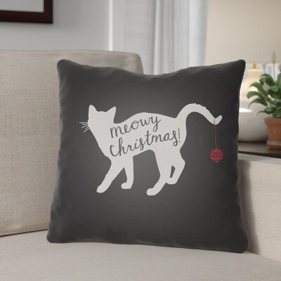 Outdoor Throw Pillow Size: 18 H x 18 W x 4 D, Color: Black / White
