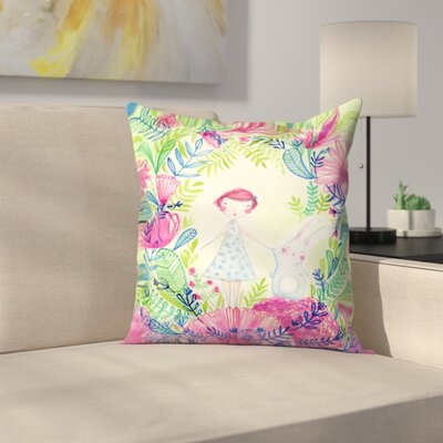 Paula Mills Camille and Thumper Throw Pillow Size: 14 x 14