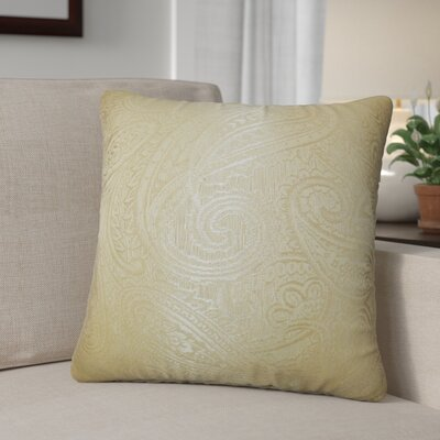 Digby Paisley Cotton Throw Pillow Color: Gold