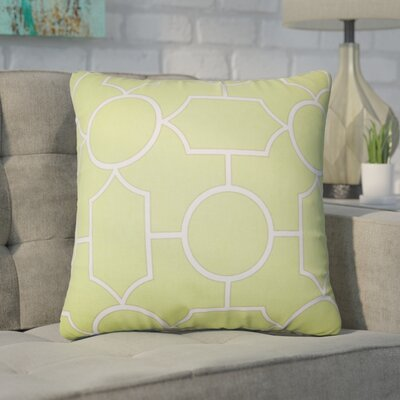 Syrianus Geometric Cotton Throw Pillow Color: Peridot