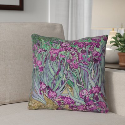 Morley 16 x 16 Irises in Pink Outdoor Pillows & Cushions UV Properties + Waterproof and Mildew Proof Color: Pink, Size: 16 x 16