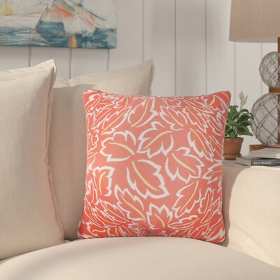 Pankuri Foliage Throw Pillow Color: Poppy