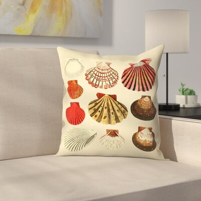 Oysters Throw Pillow Size: 18 x 18