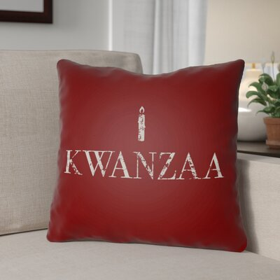 Kwanzaa Indoor/Outdoor Throw Pillow Size: 18 H x 18 W x 4 D, Color: Red