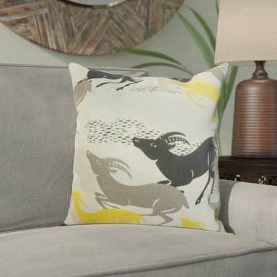 Deklan Animal Print Cotton Throw Pillow Color: Citrine, Size: 20 x 20