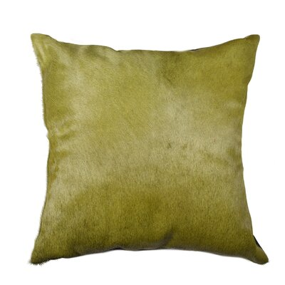 Torino Leather Throw Pillow Color: Green