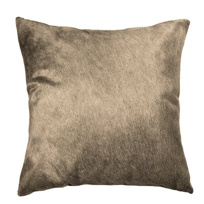 Torino Leather Throw Pillow Color: Taupe
