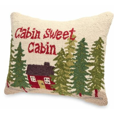 Cabin Sweet Cabin Indoor Wool Throw Pillow