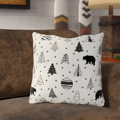 Hector Scary Bear Throw Pillow Size: 18 x 18