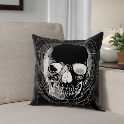 Webbed Skull Throw Pillow Pillow Use: Outdoor