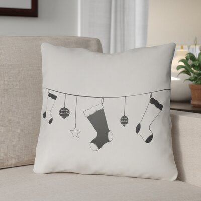 Socks Indoor/Outdoor Throw Pillow Size: 18 H x 18 W x 4 D, Color: White / Black