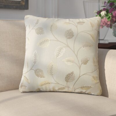 Giomar Floral Cotton Throw Pillow Color: Pewter