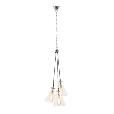 Demartino 3-Light Cluster Pendant