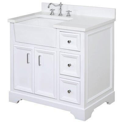 Zelda 36 Single Bathroom Vanity Set Base Finish: White