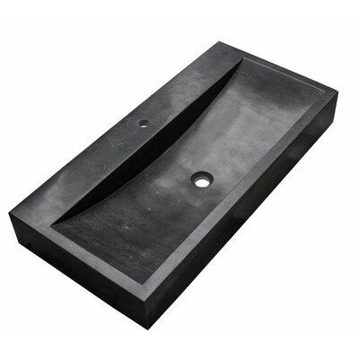 Waco Sinktop Stone Rectangular Drop-in Bathroom Sink