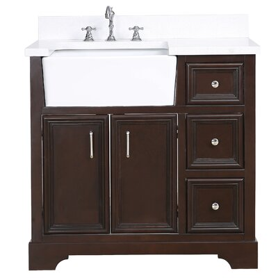 Zelda 36 Single Bathroom Vanity Set Base Finish: Chocolate