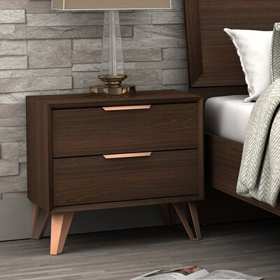 Lininger 2 Drawer Nightstand
