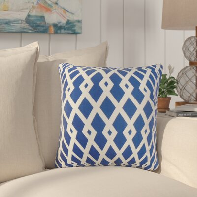 Arbutus Geometric Cotton Throw Pillow Color: Blue