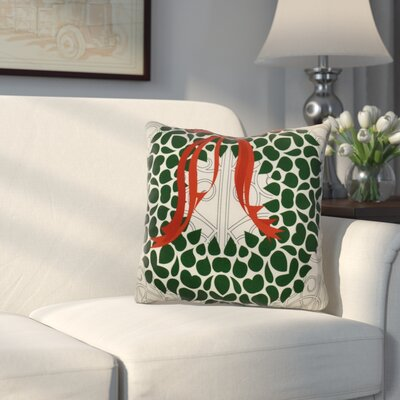 Decorative Holiday Throw Pillow Size: 16 H x 16 W, Color: Gray / Green