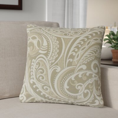 Milano Damask Throw Pillow Color: Linen
