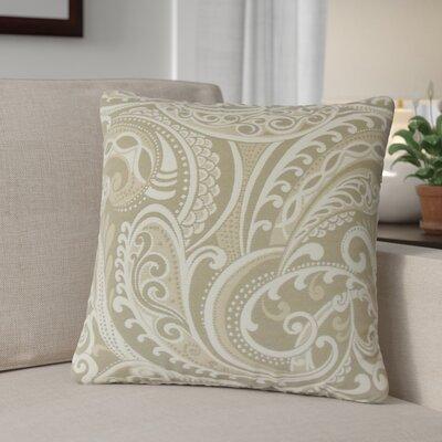 Milano Damask Throw Pillow Color: Linen