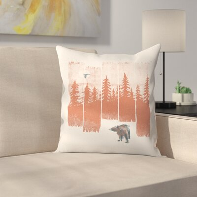 A Bear In The Wild Throw Pillow Size: 20 x 20