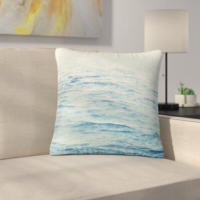 Debbra Obertanec Foggy Morning Ocean Coastal Outdoor Throw Pillow Size: 16 H x 16 W x 5 D