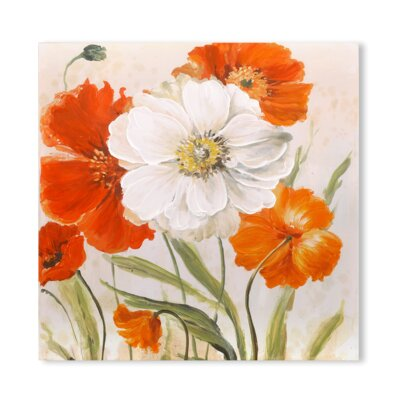 'True Beauty of the Flowers' Acrylic Painting Print on Wrapped Canvas 8E8A2EEBB2C94CFD829809C9A36EBD6D