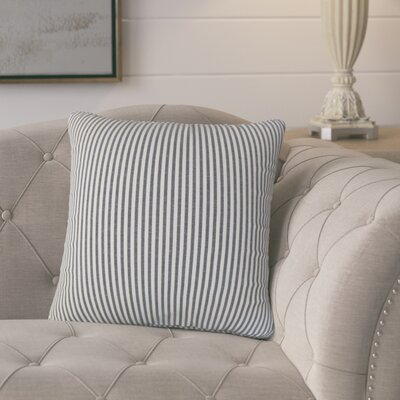 Melinda Classic Stripes Throw Pillow Cover Color: Black