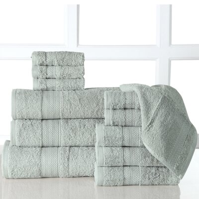 Ziegler 12 Piece Towel Set Color: Jade
