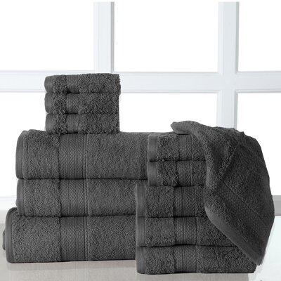 Ziegler 12 Piece Towel Set Color: Gray