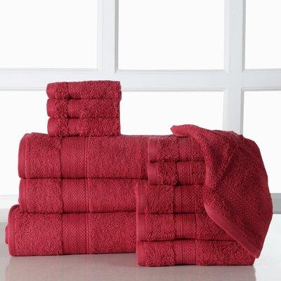Ziegler 12 Piece Towel Set Color: Biking Red